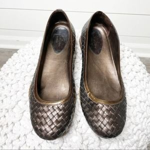 Cole Haan Bria Woven Leather Flats Brown Size 10M